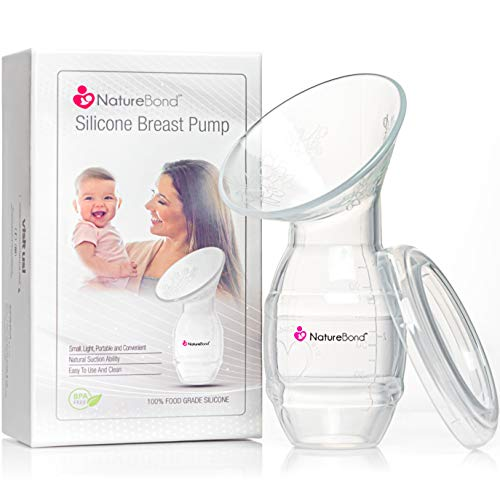 NatureBond Silicone Breastfeeding Manual Breast Pump Milk Saver Suction. New 2019 Basic Pack with...