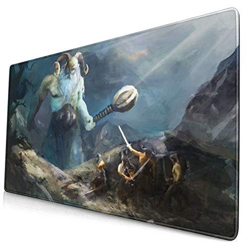 BROWCIN Alfombrilla de ratón Héroes Vikingos de Valhalla con diseño de Acuarela...