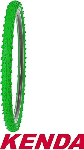 1x Kenda Fahrradreifen 24 Zoll 50-507 24x1,95 MTB Profil K-829 Reifen Fahrrad Decke Mantel Neongrün Grün