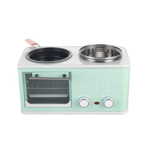 KYC Home Breakfast Machine, Multifunctional Four-in-one Small Oven, Sandwich Maker, a Breakfast Machine Includes, Frying pan, Oven, Boiling Pot, Steamer,
