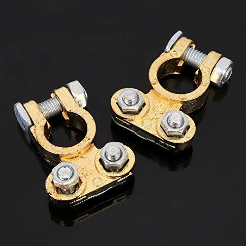 Startkabels & Clipt Positieve en negatieve auto-U-vormige metalen accu, connector klemmen, veren, binnendiameter: 16 mm (2 stuks)