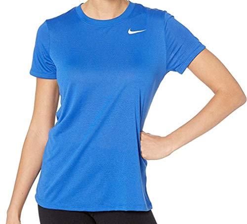 Nike Dry Legend Tee Crew, blu reale/bianco, XS