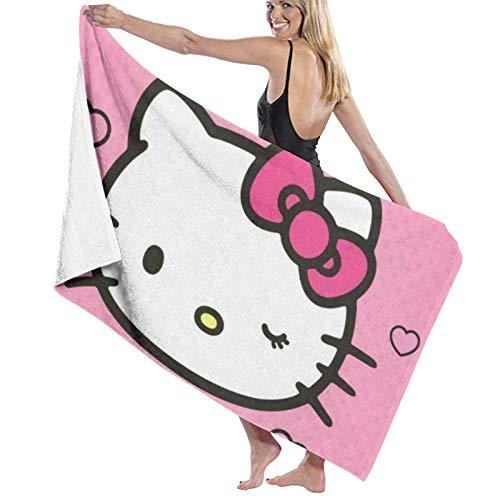 Custom made Hello Kitty - Toallas de baño grandes, suaves, absorbentes para mujeres y hombres, se aplican a la playa, deportes, viajes, toallas