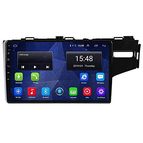 WY-CAR Reproductor Multimedia Estéreo para Automóvil De 10.1 Pulgadas para Honda Fit Jazz 2014-2018, Navegación GPS con Android 8.1, Bluetooth/Radio/Mirrorlink/FM/RDS/Video/Cámara Trasera