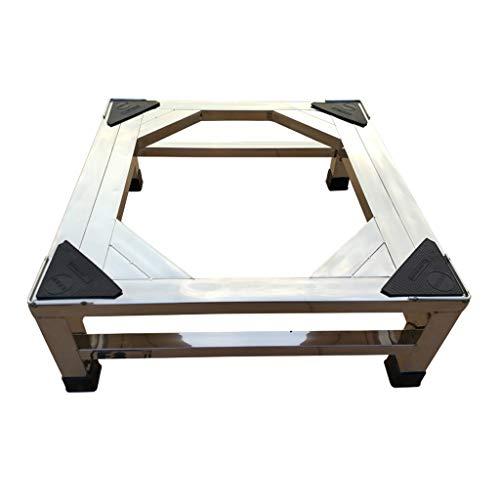 Ldwxxx Elevación Acero Inoxidable Lavadora Rack Refrigerador Soporte Secador Base Deslizamiento Desgaste Resistente (Size : 45×45×15cm)