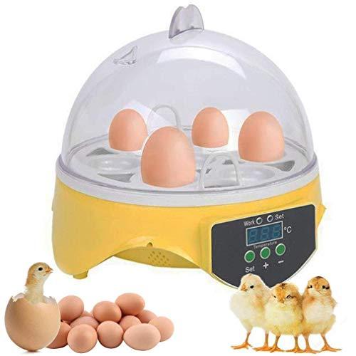 Incubadoras 7 Huevos Completamente Automáticos Incubadora Inteligente Incubadora Criadora de Motores Pollos con Temperatura y Control de Humedad,para Huevos, Huevos de Pato, Huevos de Fuego, etc