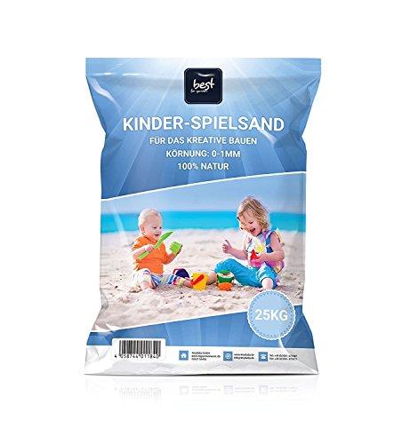 4myBaby GmbH Best for Garden 25kg Spielsand Quarzsand für Sandkasten Dekosand TÜV geprüft TOP Qualität (100 KG)