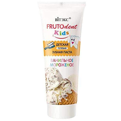 Vanilla Icecream Gel Toothpaste for Kids Fluoride Free Belita