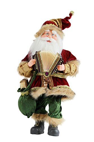 """18"""" Inch Standing Animated Musical Dancing Accordion Santa Claus Christmas Figurine Figure Decoration M518050"""