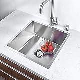 Big Bowl Lavello, Lavello in Acciao Inox 1 Vasche, Lavello da Cucina a Vasche Singola, lav...