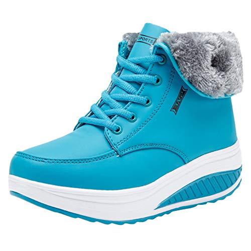 LianMengMVP Femmes Loisir Plus Velvet Bottom Chaussures de Sport des Coins Fond épais Dames Baskets