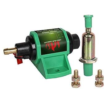 Universal 12D Electric Fuel Pump 12 V 5/16  4-7 P.S.I Shut-off Pressure Self-Priming for Diesel Transfer Pump- 2 Wire Design