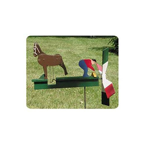 Woodworking Project Paper Plan to Build Kicking Mule Whirligig