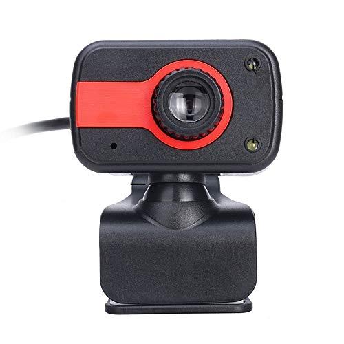 JZUKU Webcam USB 480P USB Webcam con El Micrófono For Cámara De La Computadora Portátil O De Sobremesa (Color : Red)