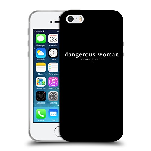 Head Case Designs Ufficiale Ariana Grande Testo Donna Pericolosa Cover in Morbido Gel Compatibile con Apple iPhone 5 / iPhone 5s / iPhone SE 2016