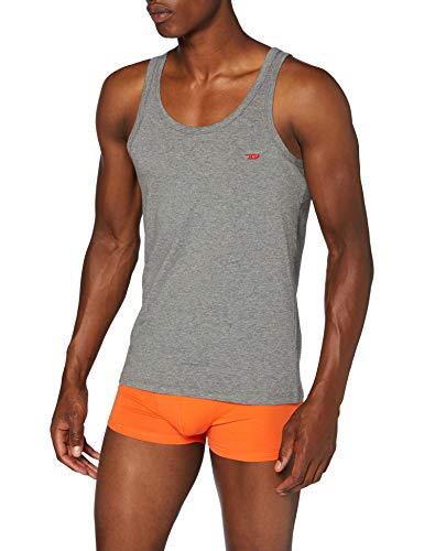 Diesel UMTK-JOHNNYTHREEPACK, Camiseta sin Mangas para Hombre, Multicolor (Dark Grey Mélange/Black/Bright White E3843/0wavc), M, Pack de 3