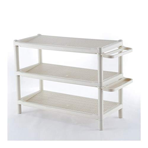 Schoenenkast voor de hal, wit, ruimtebesparend, vrijstaand