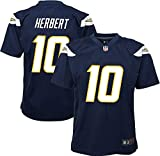 Outerstuff NFL Los Angeles Chargers Herbert Justin Youth Boys (8-20) Team Game Navy Jersey, Large (14-16)