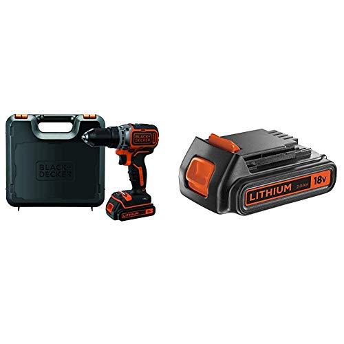 BLACK+DECKER BL186K-QW Trapano Avvitatore Brushless + Batteria 18 V 2.0 Ah