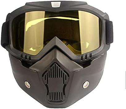 Unisex invierno nieve máscara de esquí gafas deportes al aire libre anti-niebla anti-niebla a prueba de viento máscara de snowboard snowboard segura protectora motocross esquiando gafas ( Color : 01 )