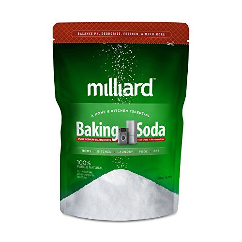 Milliard 2lbs Baking Soda / Sodium Bicarbonate USP - 2 Pound Bulk Resealable Bag