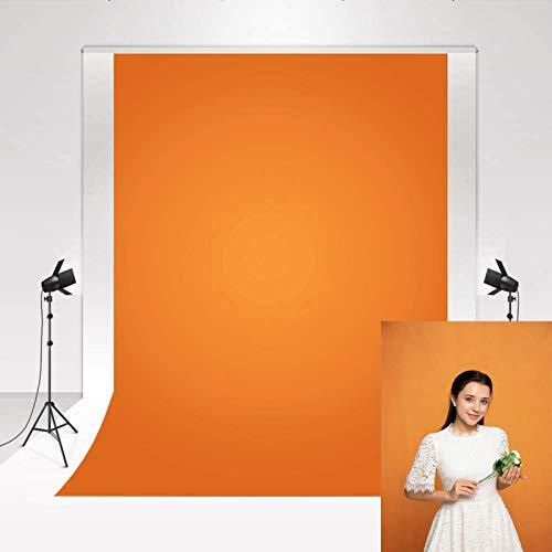Kate Foto Hintergrund Leinwand Orange 1,5x2,2m Fotohintergrund Mikrofaser für Porträt Neugeborenen Fotografie Hoch gesättigte Farben Hintergrund Fotostudio Hintergrund Fotografie