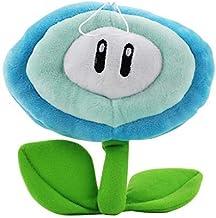 NOBRAND 17cm de la Felpa del Regalo de Super Mario Bros Flor Azul Hielo Red Sun Flowser muñeca rellena Felpa Suave Juega for el bebé