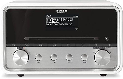 TechniSat DIGITRADIO 580 – Stereo DAB+ Internetradio (CD-Player, WLAN, LAN, DAB, UKW, Bluetooth, Spotify, USB, Wecker, Wifi Streaming, Equalizer, 2 x 10 Watt Lautsprecher) weiß