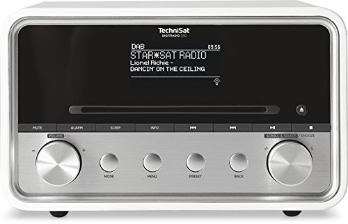 TechniSat DIGITRADIO 580 – Stereo DAB+ Internetradio (CD-Player, WLAN, LAN, DAB, UKW, Bluetooth, Spotify, USB, Wecker, Wifi Streaming, Equalizer, 2 x 10 Watt Lautsprecher) weiß
