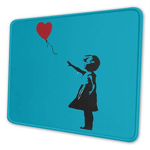 N\A Alfombrilla de ratón Banksy Heart Gaming Mousepad con Bordes cosidos Base de Goma Antideslizante para computadoras portátiles Oficina y hogar