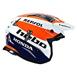 Hebo Zone 4 Montesa Team III Repsol Fibre Trials Casco Medio Blu Arancione