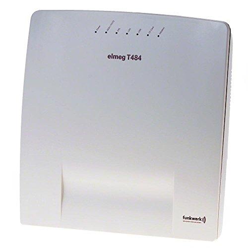 Elmeg T484 1S0 ext/int / 1S0 int / 8a/b mit CLIP / integr. Router m. LAN/WAN/USB / Voice-Boxen u. Wav-Appl. / CF-Card TypI noetig/
