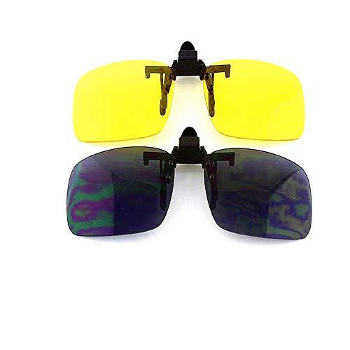 Ankamal Elec Ankamal Elec Solar-Clip, Solar polarizing Unisex Brille, Set bestehend aus zwei Clips einschließlich Night Vision