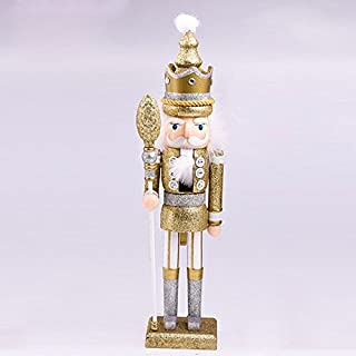 """Gold Soldier Wooden Nutcracker Holiday Nutcracker Christmas Nutcracker