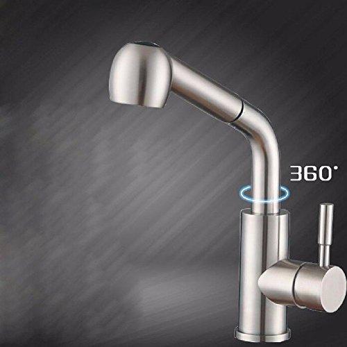 304 Edelstahl heiß und Kalt Küche Wasserhahn Dusche Steckdose bleifrei Ziehen Typ Teleskop Waschbecken Waschbecken Wasserhahn