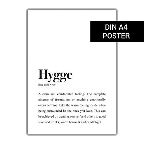 Hygge Definition (Englisch): DIN A4 Plakat
