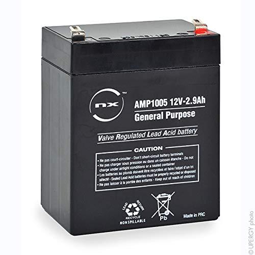 NX - Batería sellada de plomo ácido (12 V, 2,9 Ah, T1) ✅