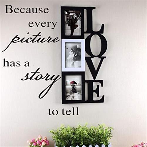 XXCKA Weil jedes Bild eine Geschichte zu erzählen hat Vinyl Wandaufkleber Wohnkultur Wandtattoo 8093 Dekorative Wohnzimmer Kunst