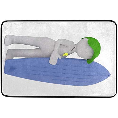 Ogden Moll Area Rugs Carpet Hand Board Weiß Isoliertes Surfer-Modell Moderner Weicher Teppich Für Wohnzimmer, Schlafzimmer, Eingang, Dekorativ, Flur,60x91 cm(36x24 Zoll)