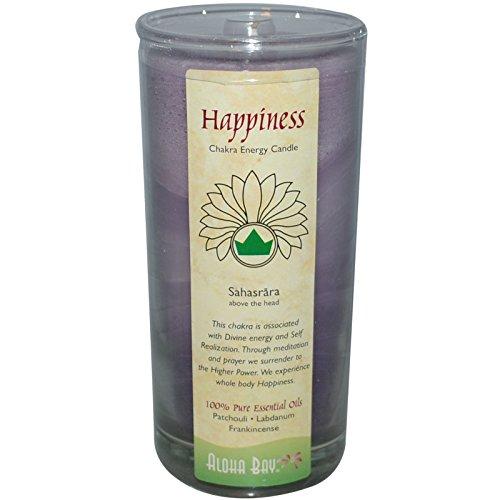 Aloha Bay - Felicidad del tarro de la vela de la energía de Chakra - 11 oz.