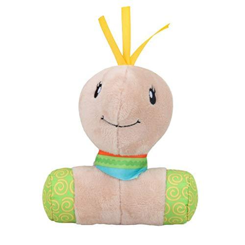 Lazzboy's Kleinkinder scherzt tierische weiche Plüsch-Baby-Handglocken-pädagogisches Puppe-Spielzeug( E,Ca 19X14cm)