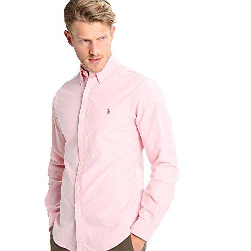 Ralph Lauren - Camicie Classic Oxford (L, Rosa)