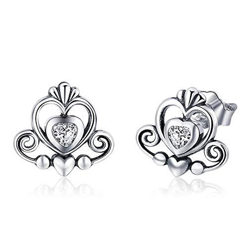 Prinses Kroon Nieuwe Collectie 925 Sterling Zilver Prinses Kroon Prachtige Oorstekers voor Vrouwen Oorbellen Zilver sieraden