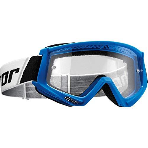 Thor Combat Motocross Kinder Brille Spring 2019 blau weiss klare Scheibe