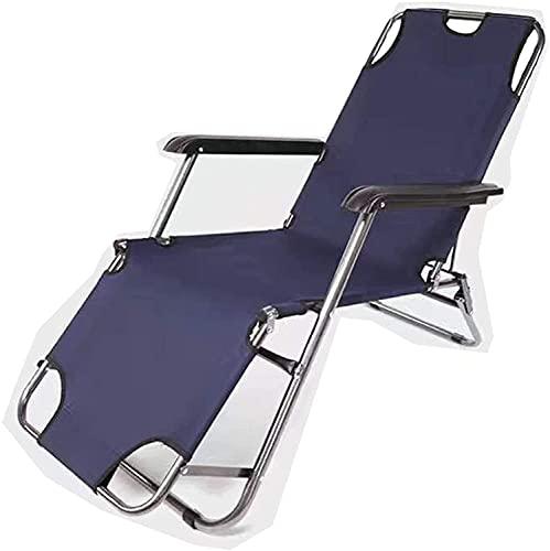 LUFISH Chaise Longue de jardín, Silla reclinada al Aire Libre, tumbonas de Sol Plegable, Muebles de jardín al Aire Libre de Gravedad Cero Ajustables (Color : A)