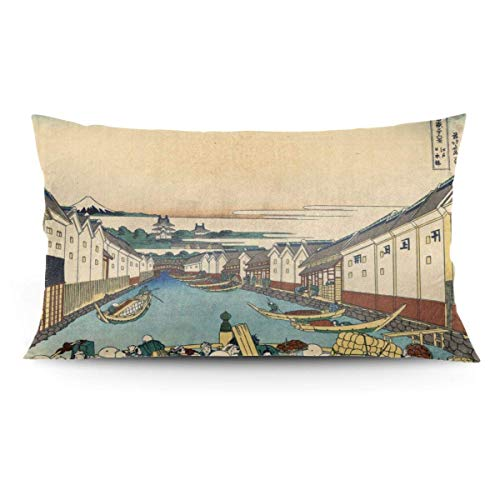 TUCBOA Pillowcase,Puente Nihonbashi En Fundas De Cojín Estilo Anime Edo, Fundas De Almohada Premium para El Dolor De Cuello,50x91cm