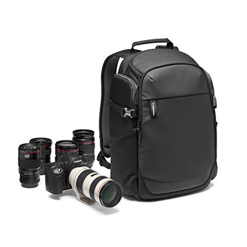 Manfrotto MB MA2-BP-BFR Advanced² Befree Kamerarucksack für 15-Zoll-Laptop, rückseitiger Zugang, elastische Seitentasche für Reisestativ, für DSLR/spiegellose/CSC/Drohne und Standardobjektive, schwarz