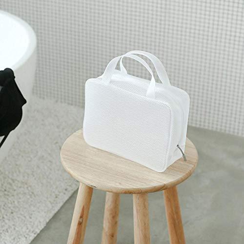 Easy-topbuy Trousse De Toilette Trousses De Maquillage Sac Plastique Sac De Rangement Sac De Voyage Pinceau Organisateur Pochette À Bagages Fermeture Éclair Multifonctionnelle en PVC 25X8X18.5cm