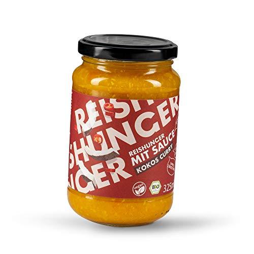 Reishunger Kokos-Curry BIO Fertigsauce (6 x 325 ml) für Pasta und Reis erhältlich in 325 ml und Vorratsgrößen