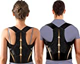 Adjustable Back Posture Corrector for Women & Men with Spine Back Support, Breathable Lower and Upper Back Brace for Posture Improves and Pain Relief from Neck, Back, Shoulders (X-Large(31-47 Inch))